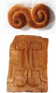 Modellazione del pane e raffigurazioni a spirale sulle pietre tombali dell'età del bronzo